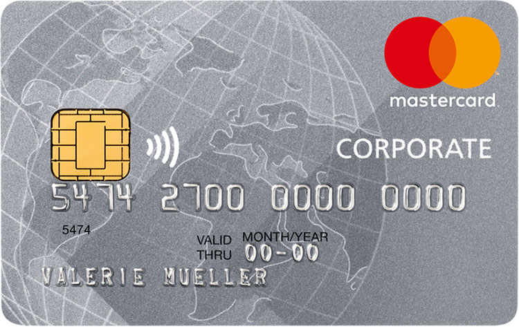MasterCard Corporate Card Silber