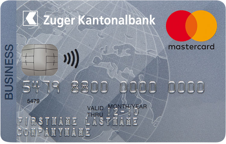 MasterCard Business Card Silber