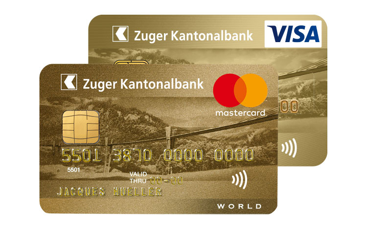 World Master Card Gold und Visa Gold Karte