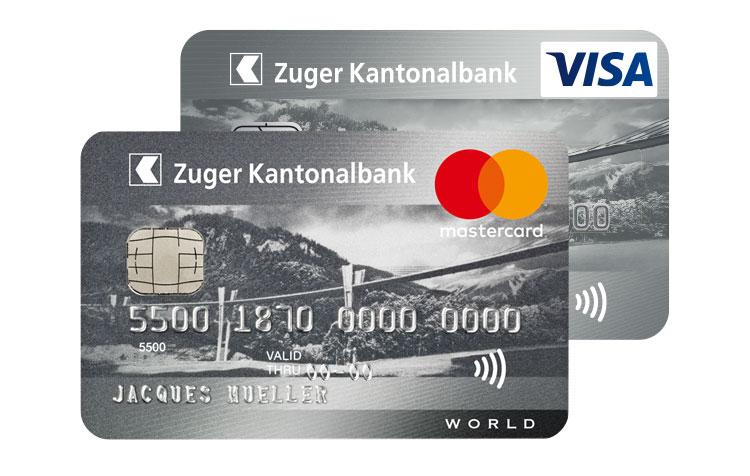 mastercard visa kreditkarte f r privatpersonen zuger kantonalbank. Black Bedroom Furniture Sets. Home Design Ideas
